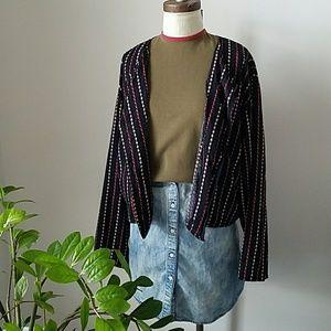1990s Putumayo Button Up Printed Top/Jacket VTG